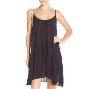 Elan Slip Dress Swim Cover Up Black Small